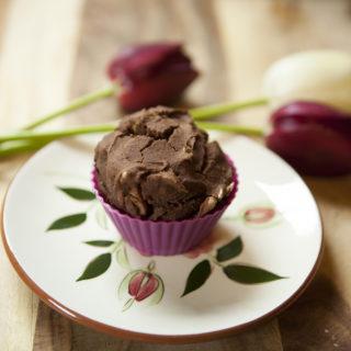 gluten free chocolate rhubarb muffins