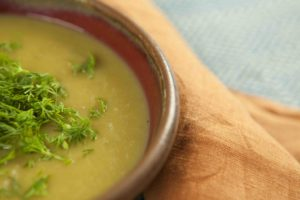 Paleo potato and leek soup